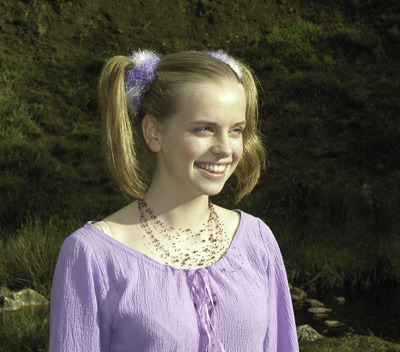 Jennifer Higham playing Olive in the movie of Gail Carson Levine's novel Ella Enchanted